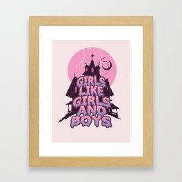girls like girls and boys Framed Art Print