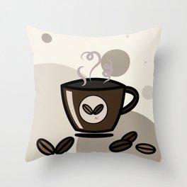 Espresso coffee mug Throw Pillow