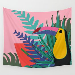 Toucan pink Wall Tapestry