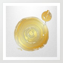 Vinyl Rings Art Print