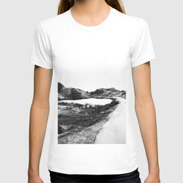 Road through Fairy Glen - B/W T-shirt