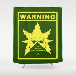 Amazing Spider-Man 2 Electro's Warning Shower Curtain