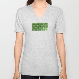 Evergreen, Snowflakes #32 Unisex V-Neck