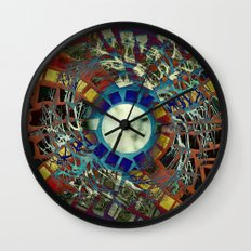 Mosaic Abstract 2 Wall Clock