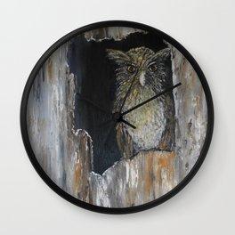 Buffy Fish Owl Wall Clock