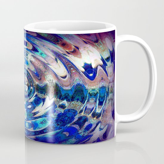 Water Element Ripple Pattern Mug