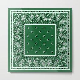 Classic Green Bandana Metal Print