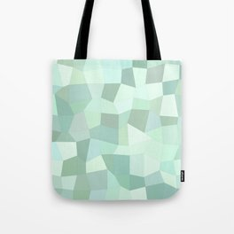 Geometric neo mint ivory pastel color abstract shapes Tote Bag