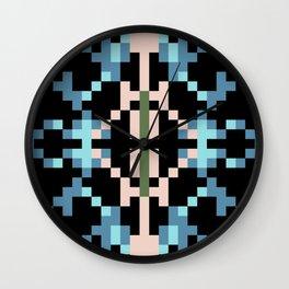Southwest Night Pixel Paradise Wall Clock