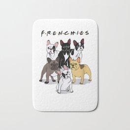 Frenchies T-Shirt French Bulldog Lover Gift Bath Mat