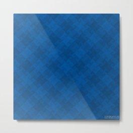 Blue Pattern BL01 Metal Print