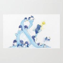 little blue penguin Rug