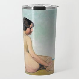 "Félix Vallotton ""Petite Baigneuse Assise sur le Sable (Young bather sitting on the sand)"" Travel Mug"