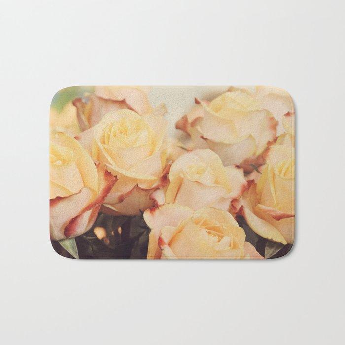Light yellow roses Bath Mat