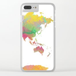 World Map - Watercolor 9 Clear iPhone Case
