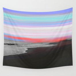 Streams of Color Sunset Seascape Wall Tapestry