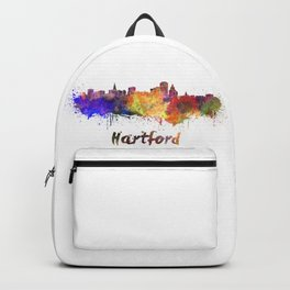 Hartford skyline in watercolor Backpack