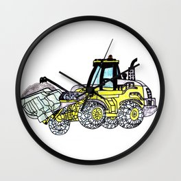 Front-End Loader Wall Clock