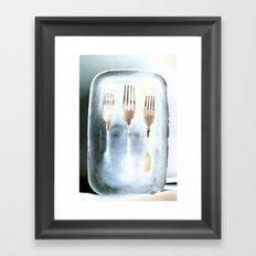 Frozen Forks Framed Art Print