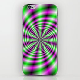 Neon Spinning Wheel iPhone Skin