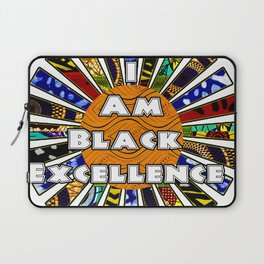 I am Black Excellence African Fabric Collage Laptop Sleeve