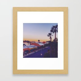 Old Town Twilight Framed Art Print