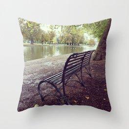 Riverside Iron Bench Throw Pillow