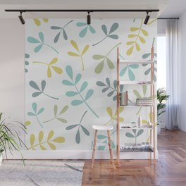 Assorted Leaf Silhouettes Color Mix Wall Mural