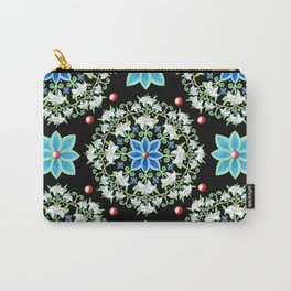 Folkloric Lily Medallion Carry-All Pouch