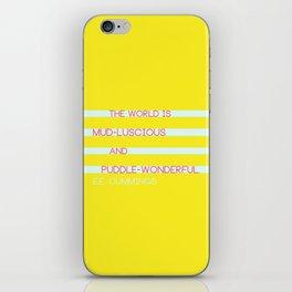 Puddle Wonderful iPhone Skin