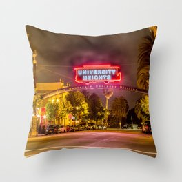 University Heights (San Diego) Sign - SD Signs Series #6 Throw Pillow