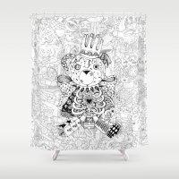 teddy bear Shower Curtains featuring Teddy Bear by Gribouilliz