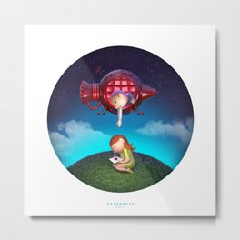 spaceboy ~ distance Metal Print