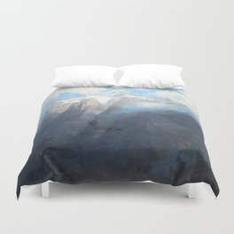 Mount Brewer from King's River Canyon, California Duvet Cover