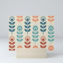 SCANDI GARDEN 01-7, multicolor on ivory Mini Art Print