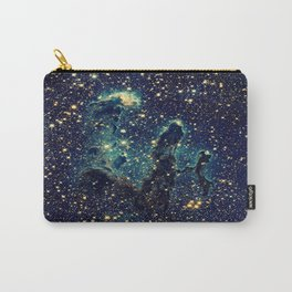 Pillars of Creation GalaxY  Teal Blue & Gold Carry-All Pouch