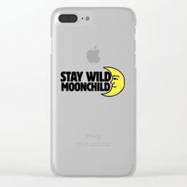 Stay Wild Moonchild Clear iPhone Case