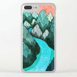 The green forest hills Clear iPhone Case