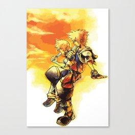 Sora and Roxas Canvas Print