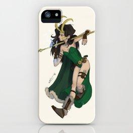 Lady Loki iPhone Case