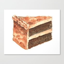 Chocolate Cake Slice Canvas Print