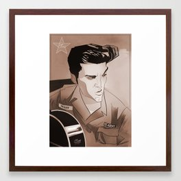 Serving Elvis Framed Art Print