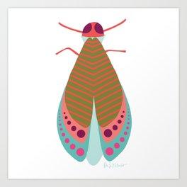 Fall Moth Art Print