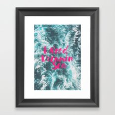 Vitamin Sea Framed Art Print
