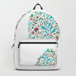 breathing in white Backpack