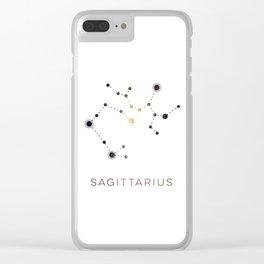 SAGITTARIUS STAR CONSTELLATION ZODIAC SIGN Clear iPhone Case