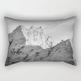 Badlands Bighorn Sheep Mountain Landscape Rectangular Pillow