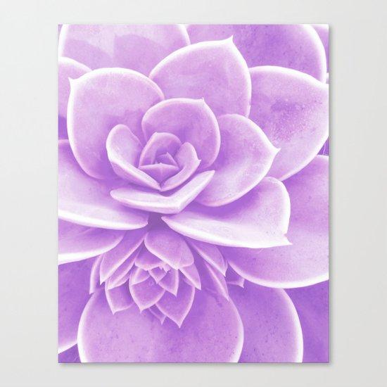 Purple Succulent Reflection Canvas Print