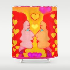 Forms Of Love Female Shower Curtain