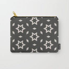 Black and white Stars Pattern Christmas Hollidays Carry-All Pouch